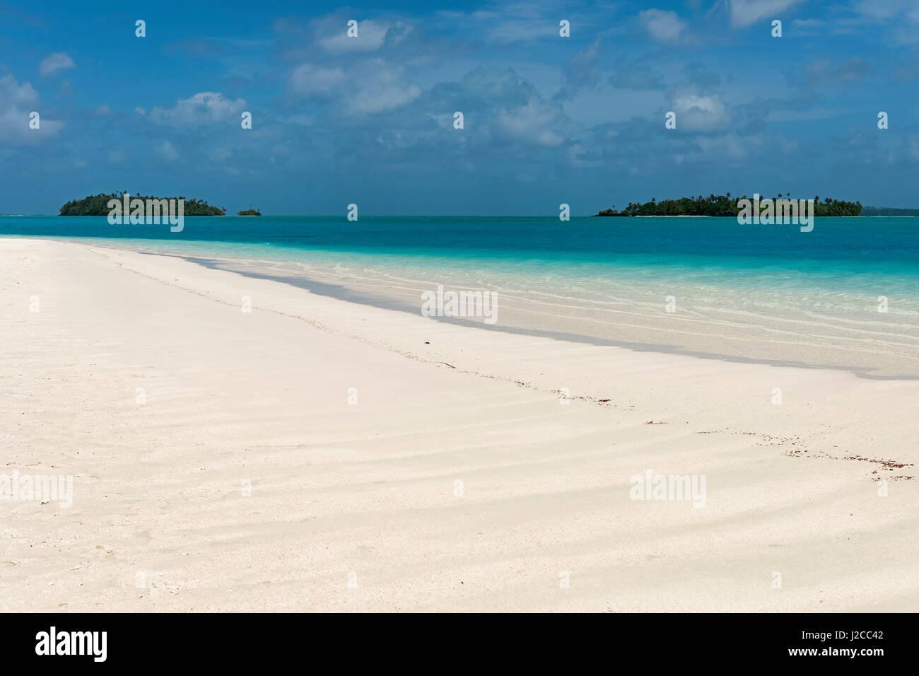 Tekopua Beach, Aitutaki Atoll, Cook Islands - Stock Image