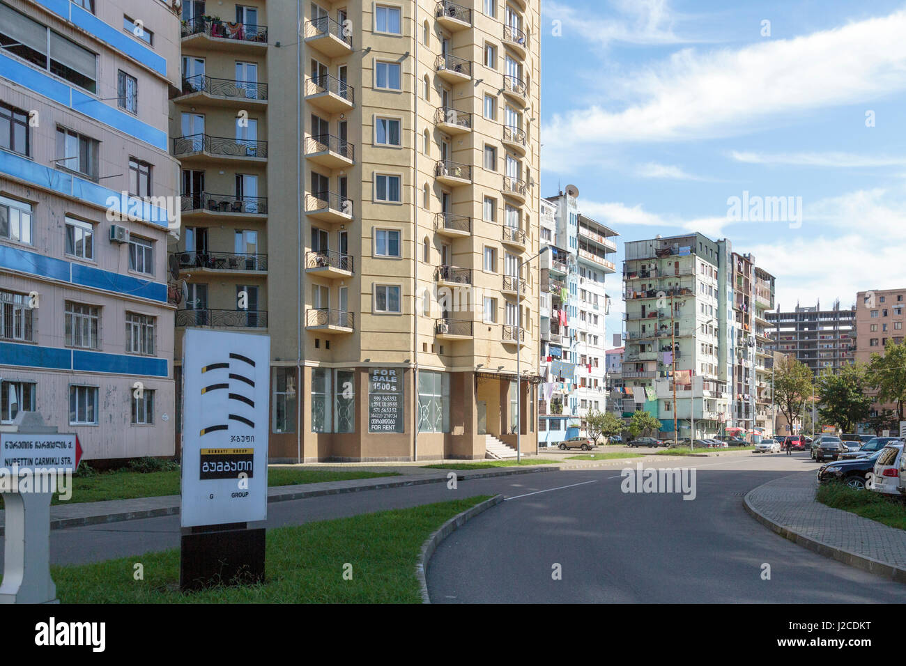 Georgia, Batumi. A series of apartment complexes in Batumi. - Stock Image