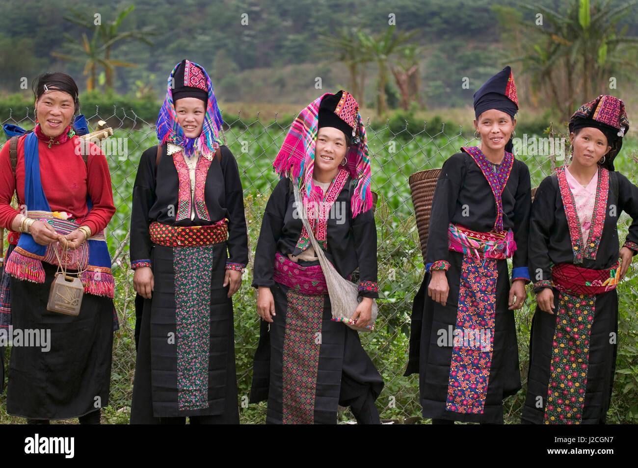 Asia, North Vietnam, Montagnard Women Stock Photo
