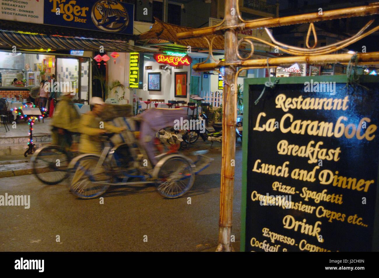 Asia, Vietnam. Sign at the La Carambole Restaurant, Hue, Thua Thien–Hue - Stock Image