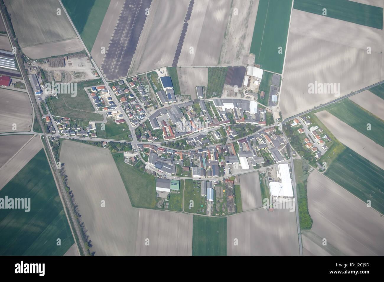 Glinzendorf, Luftbild - Stock Image