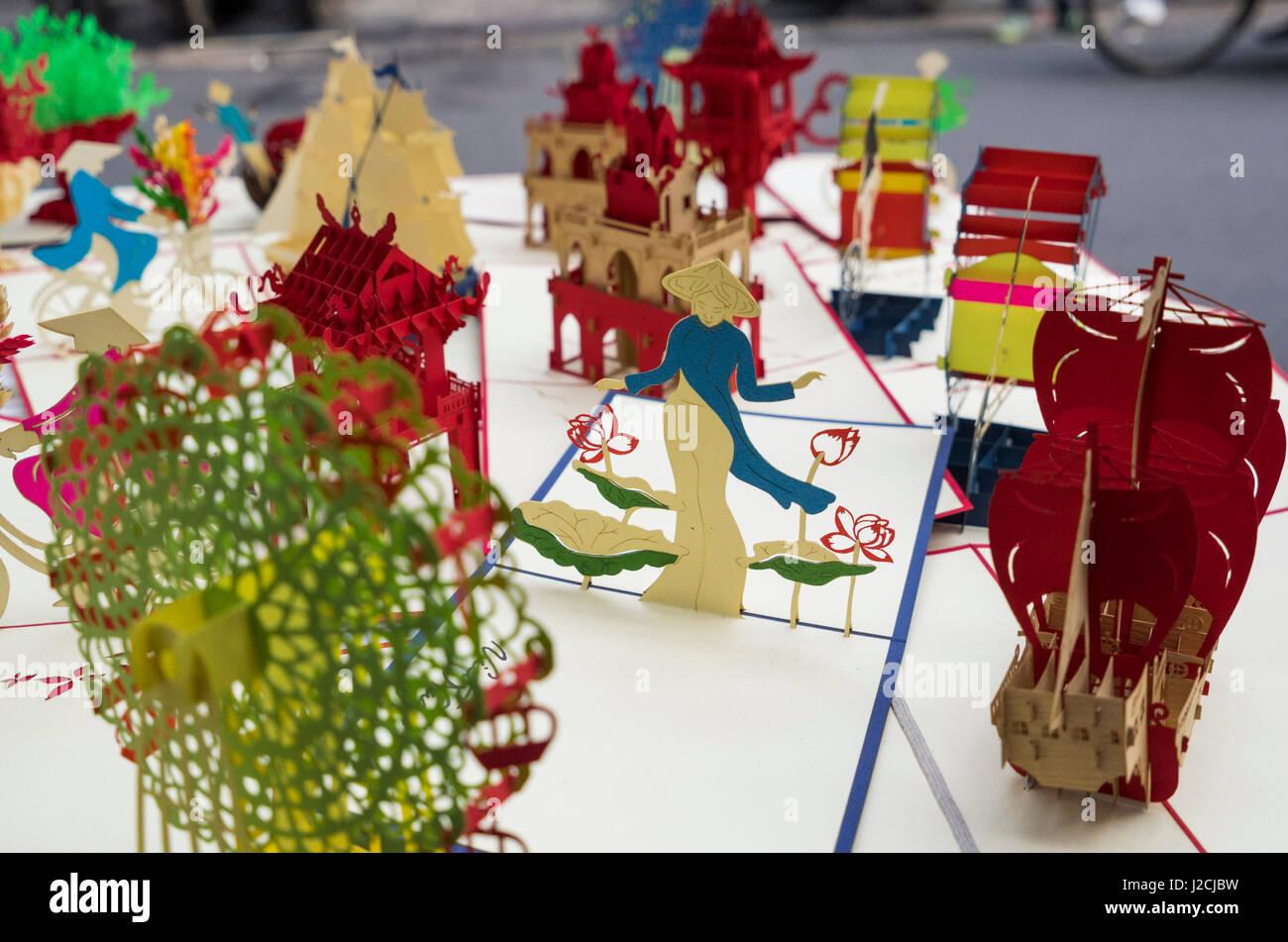 Vietnam, Hanoi. Souvenir 3D paper cut out art - Stock Image