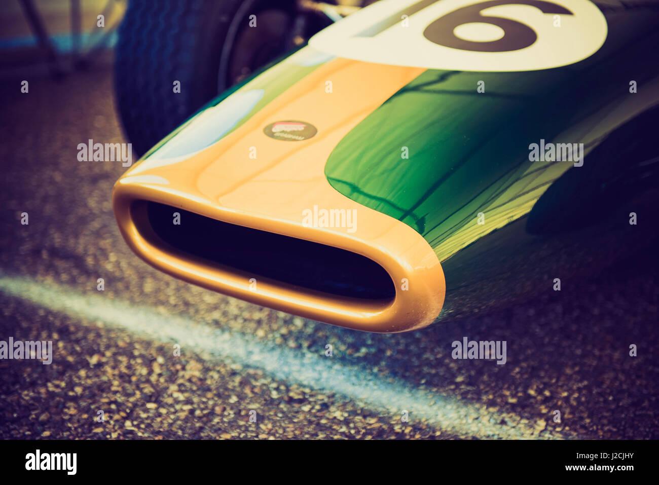 Formula Race Car Detail Stock Photo