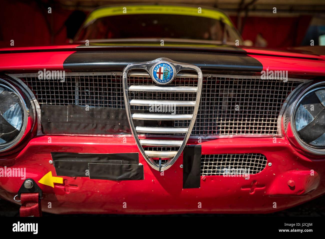 Alfa Romeo GT Junior GTA Classic Car Detail Stock Photo