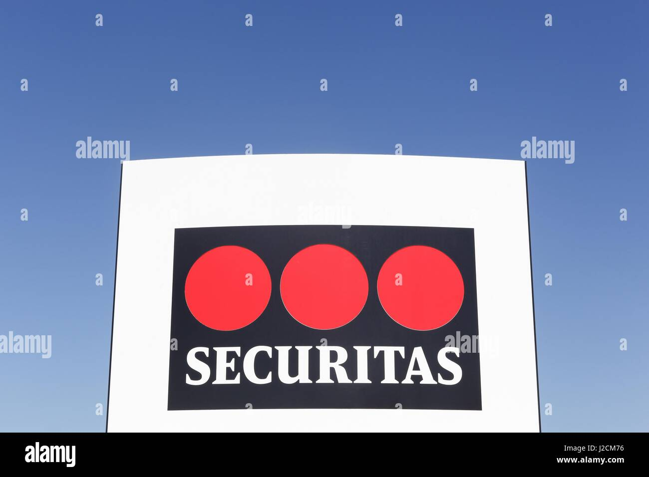 Odense, Denmark - April 9 2017: Securitas is a security