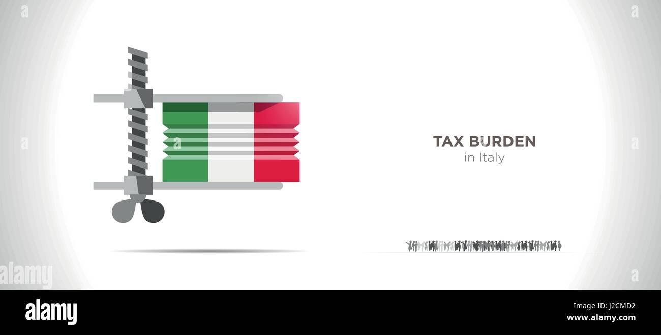 Taxes Burden - Stock Image