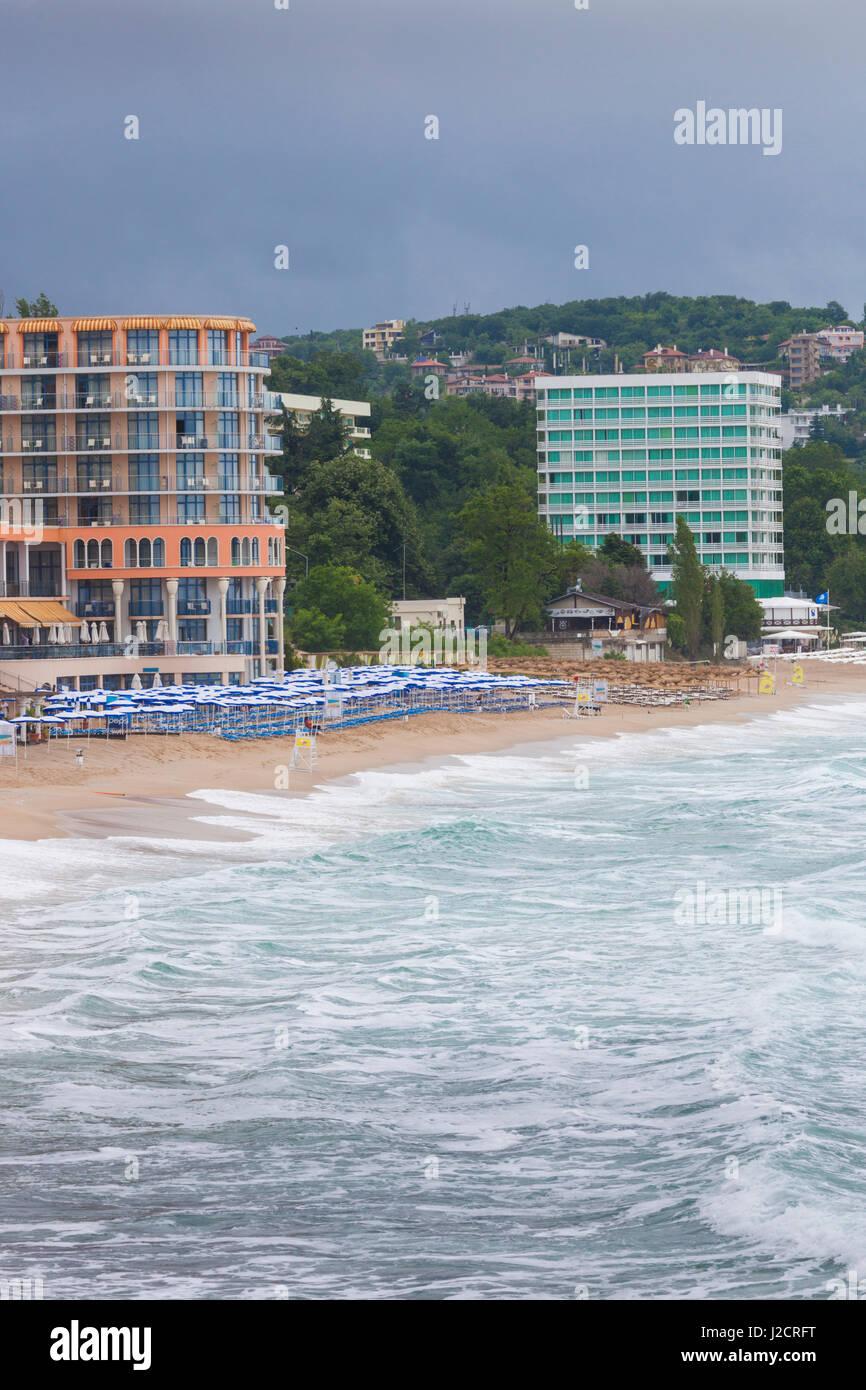 Bulgaria, Black Sea Coast, Sveti Konstantin, seaside resort hotels - Stock Image