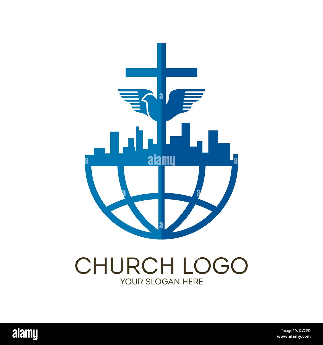 Church logo christian symbols jesus cross and dove the holy church logo christian symbols jesus cross and dove the holy spirit altavistaventures Images