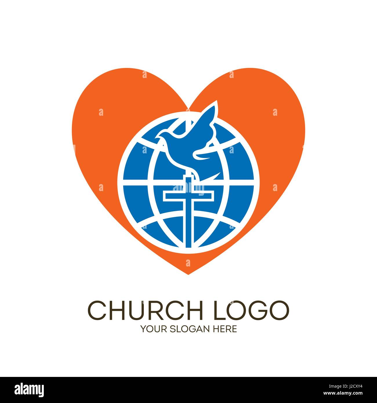 Church logo christian symbols globe cross dove and heart stock church logo christian symbols globe cross dove and heart altavistaventures Choice Image