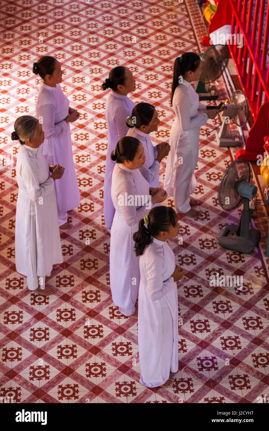 Vietnam, Sa Dec. Cao Dai Temple, interior - Stock Image