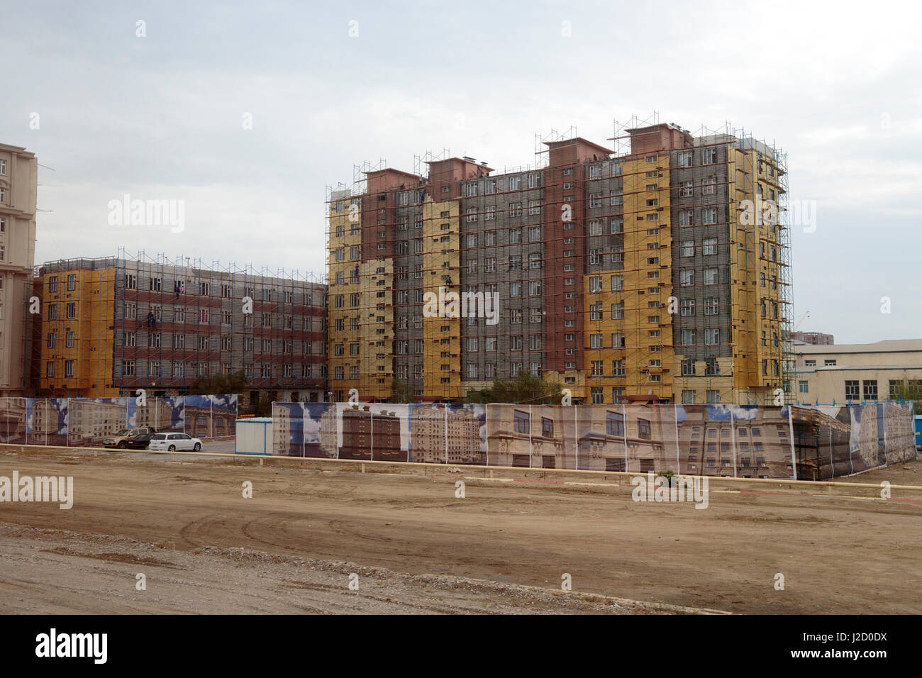 Azerbaijan, Baku. Apartment complexes under construction outside of Baku. - Stock Image
