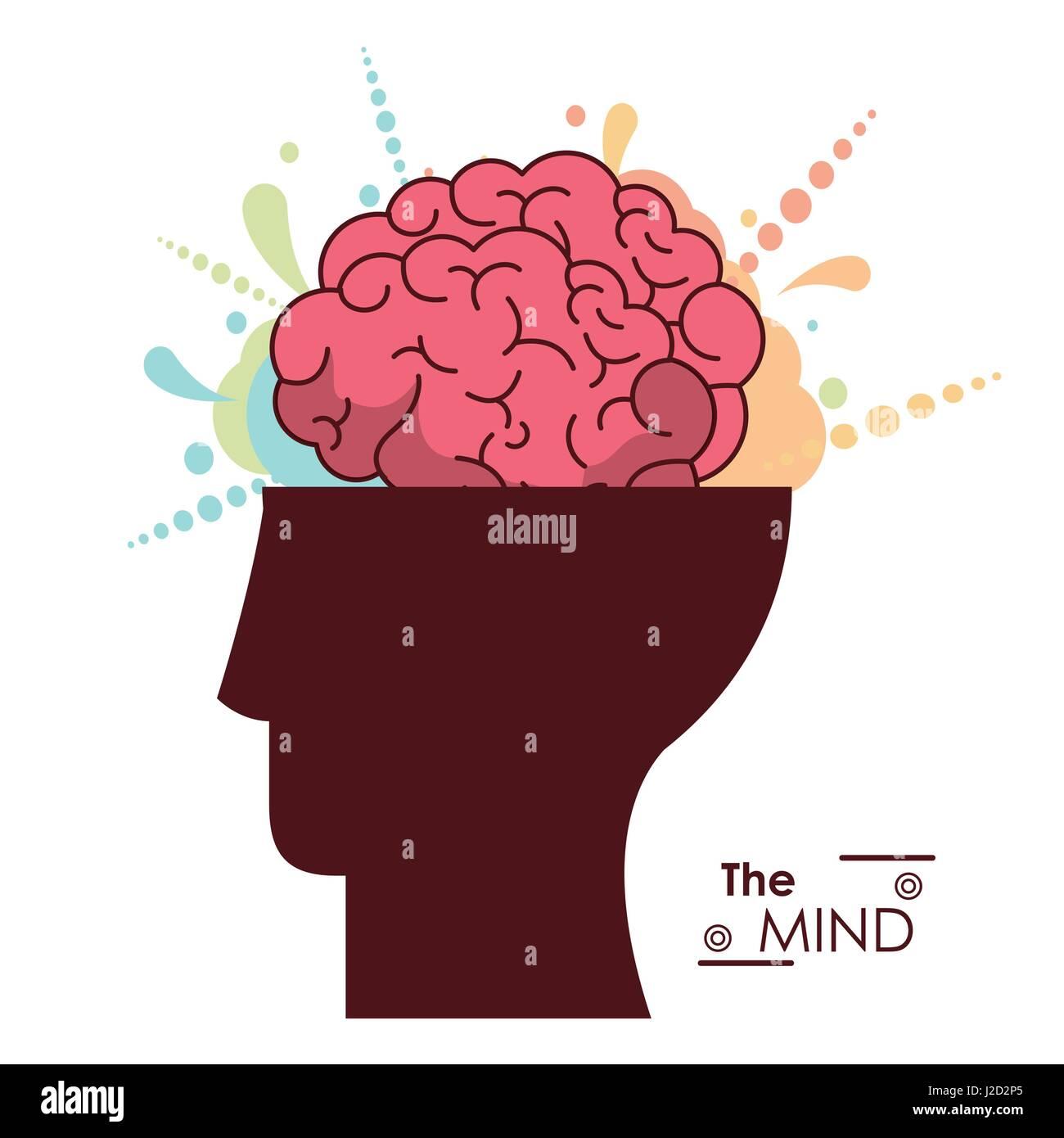 the mind human head brain creativity memory - Stock Image