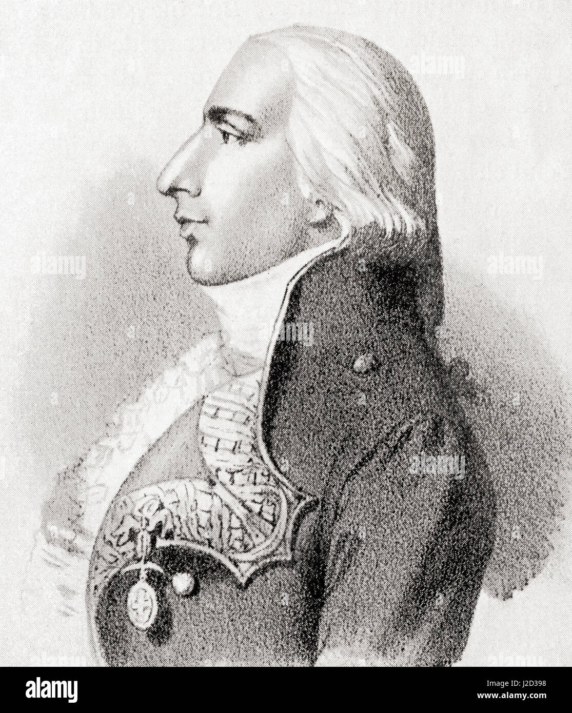 Don Federico Carlos Gravina y Nápoli, 1756 - 1806. Spanish Admiral during the American Revolution and Napoleonic - Stock Image
