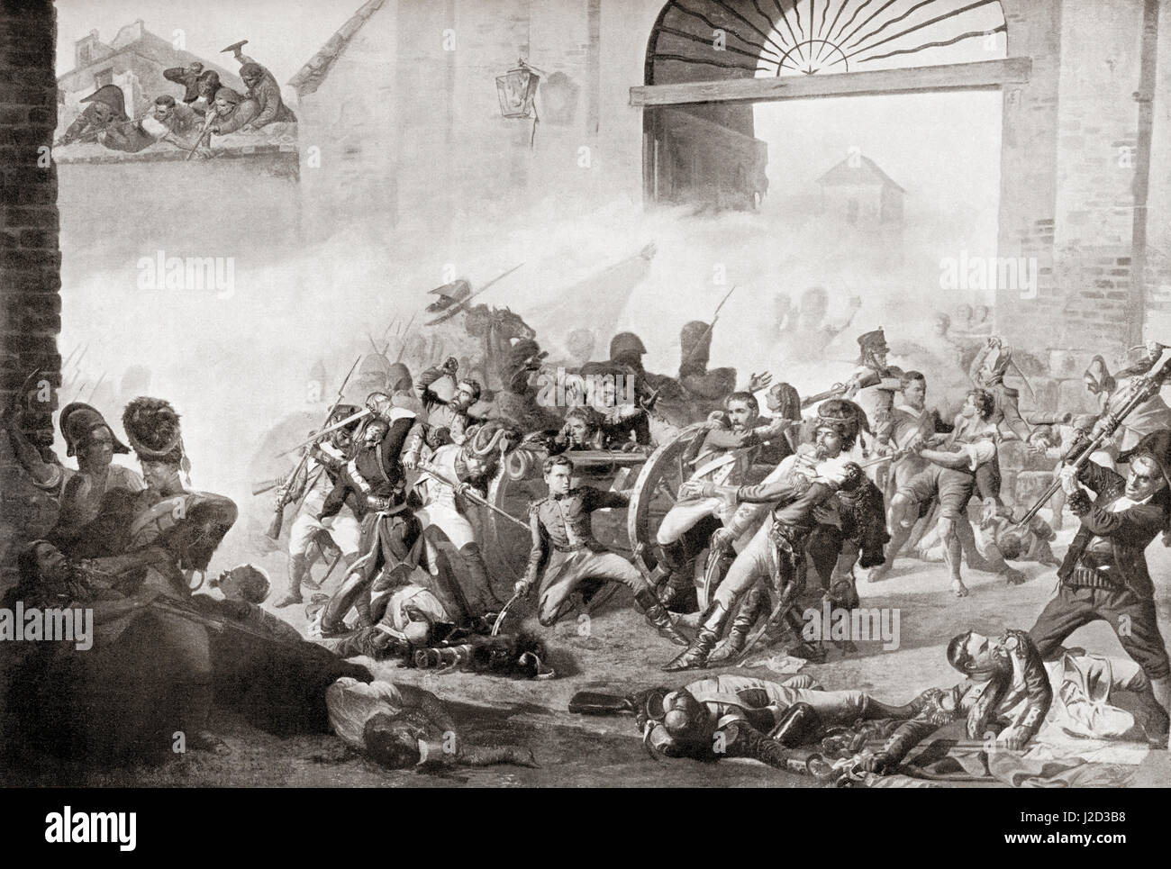 The insurrection at Madrid, Spain, 2nd May 1808 when the citizens rebelled against the French occupation. The defenders - Stock Image
