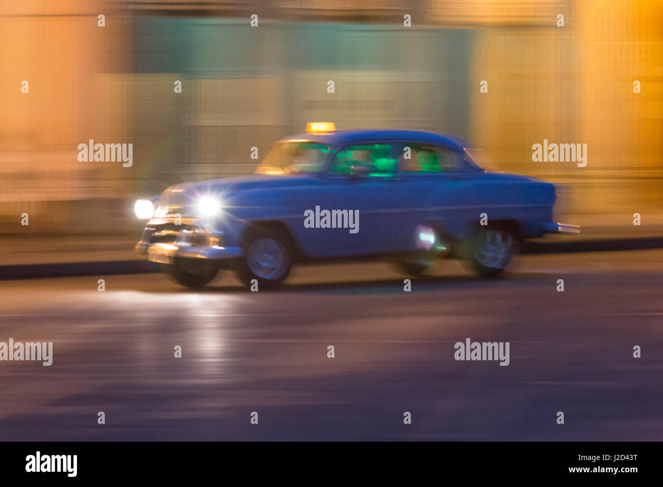 Cuba, Havana. 1953 Chevrolet. collectible, vintage cars along Havana's old city center (Editorial Use Only) - Stock Image