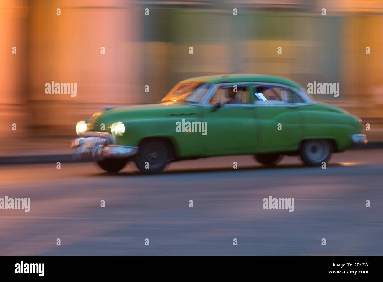 Cuba, Havana. 1950 Buick. collectible, vintage cars along Havana's old city center (Editorial Use Only) - Stock Image