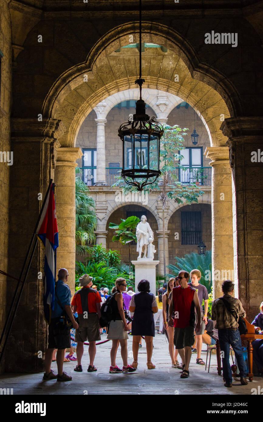 Cuba. Havana. Old Havana. Ornate entry to the Palacio de los Capitanes Generales. - Stock Image