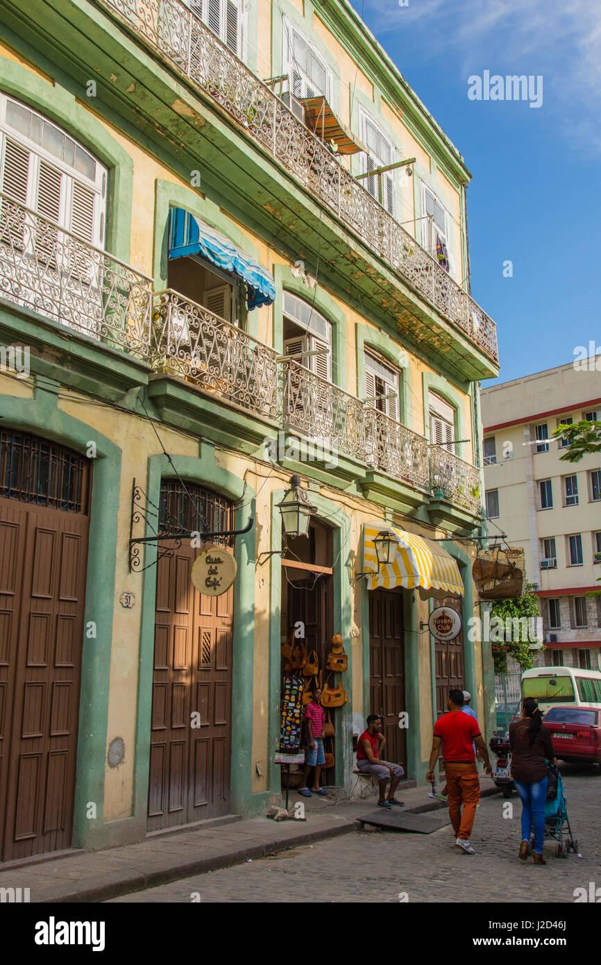 Cuba. Havana. Old Havana. Cafe near the Plaza de Armas. - Stock Image
