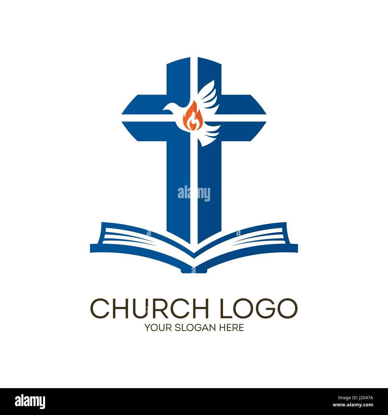 Church logo christian symbols bible cross and holy spirit dove church logo christian symbols bible cross and holy spirit dove altavistaventures Images