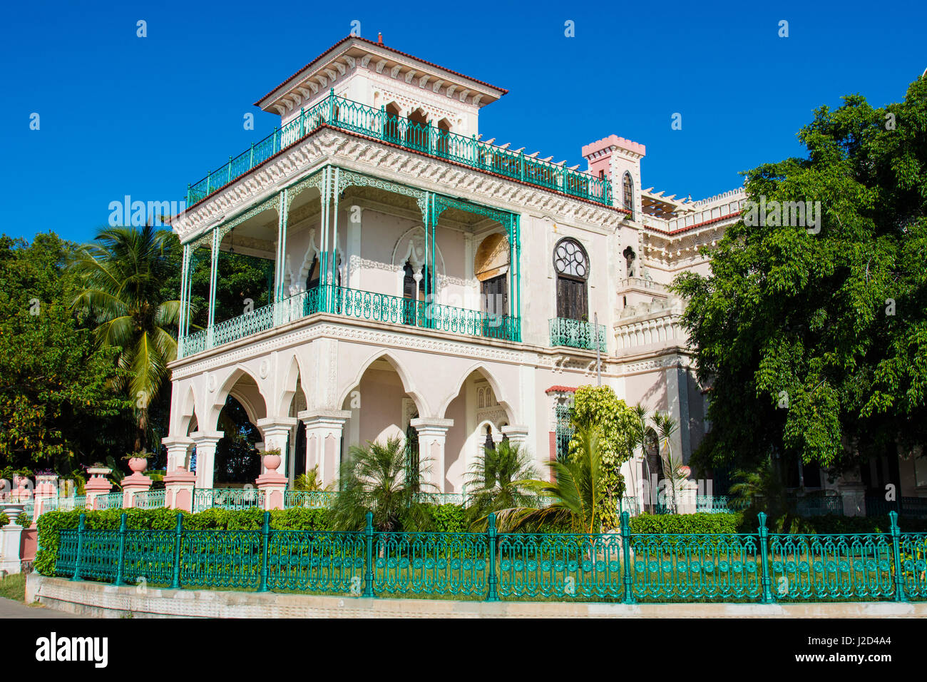 Cuba. Cienfuegos. Palacio de Valle, built in 1919 in an ornate Moroccan style, was a casino for many years. - Stock Image