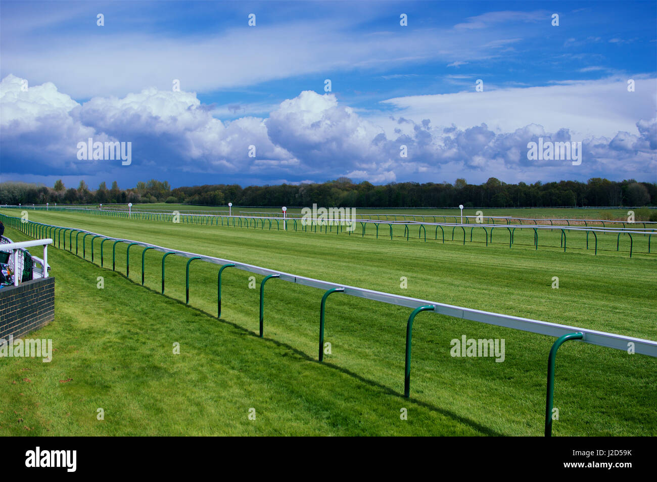 A Horse Race Track on a sunny day - Stock Image