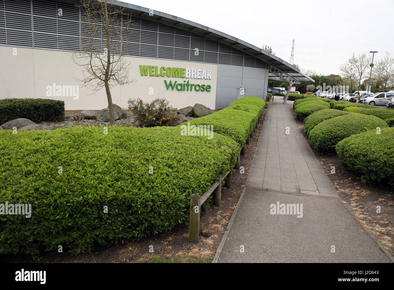 Scenes from South Mimms Services motorway service station Stock Photo