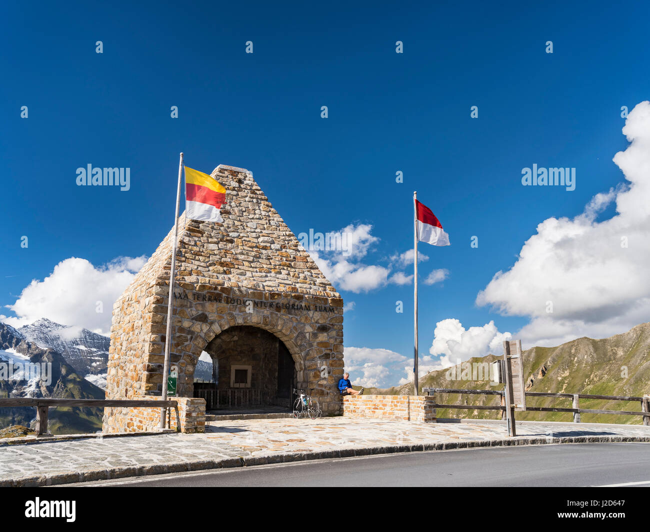 Fuschertoerl with chapel commemorating the casualties of the construction phase of the road. Austria, September - Stock Image