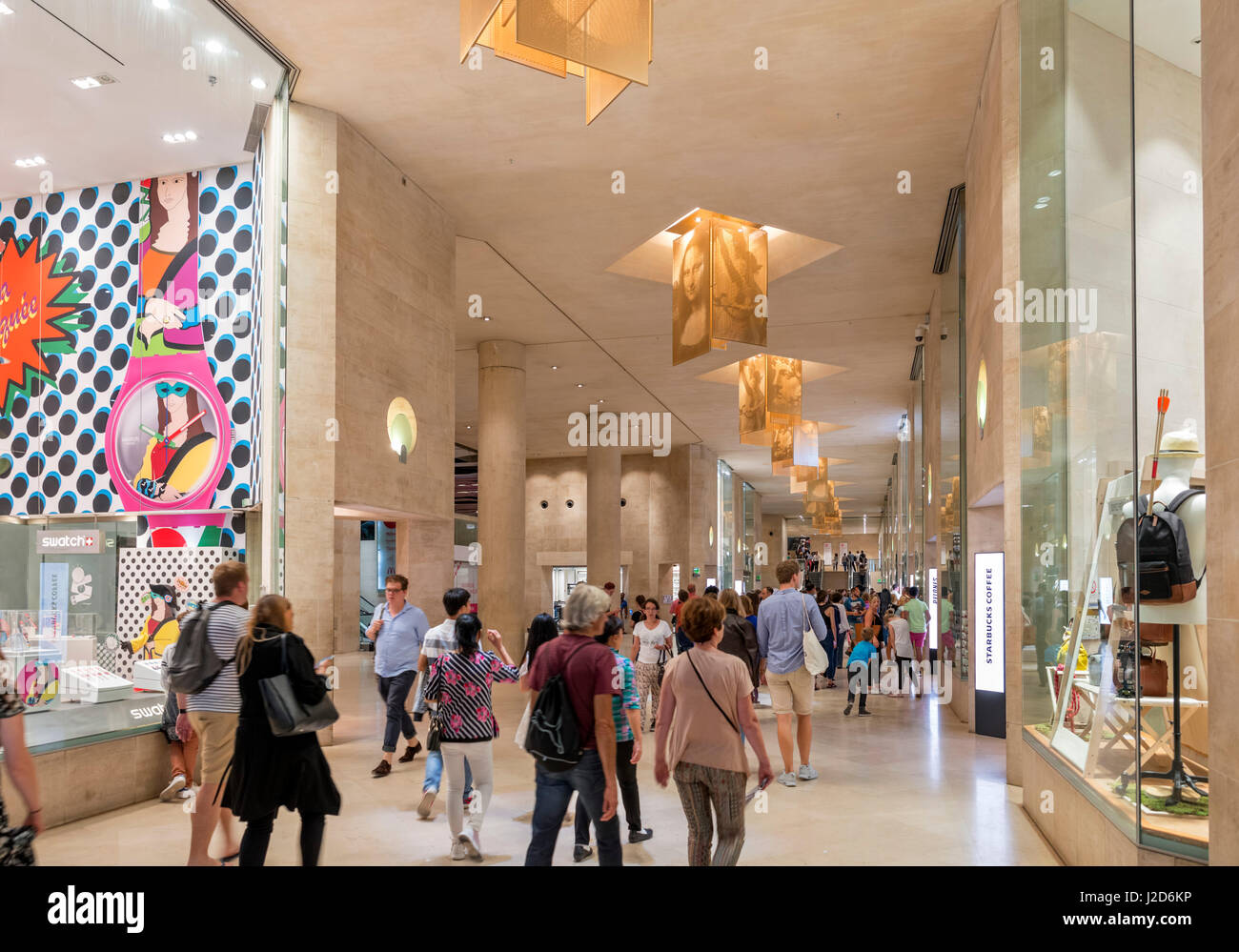 the carousel du louvre shopping mall paris france stock photo