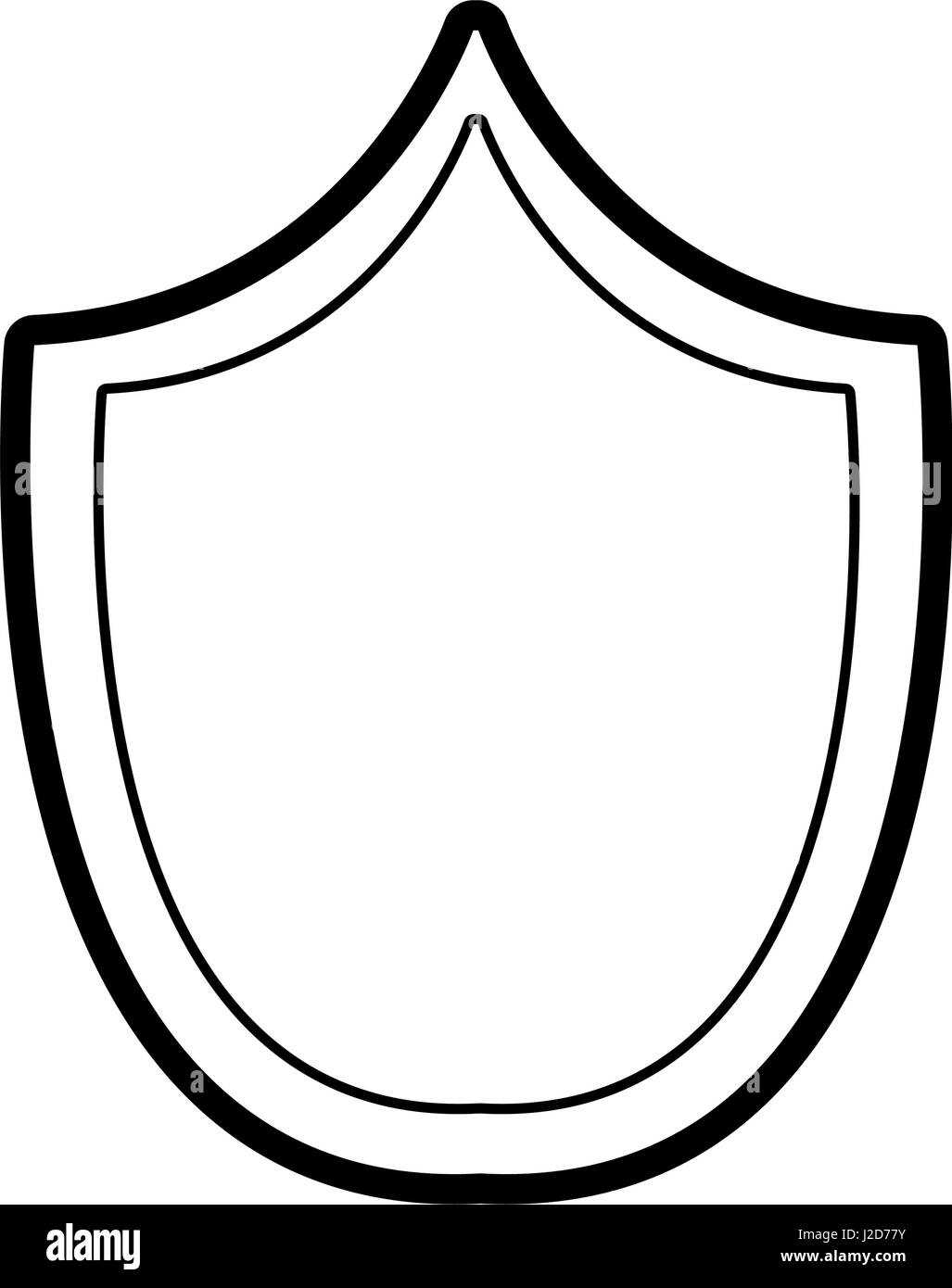 line security shield to protect things - Stock Image