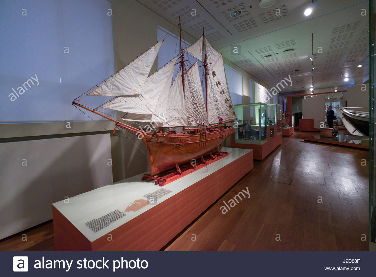 Exhibits and displays inside the National Museum of Iceland, Þjóðminjasafn Íslands, Miðborg, - Stock Image