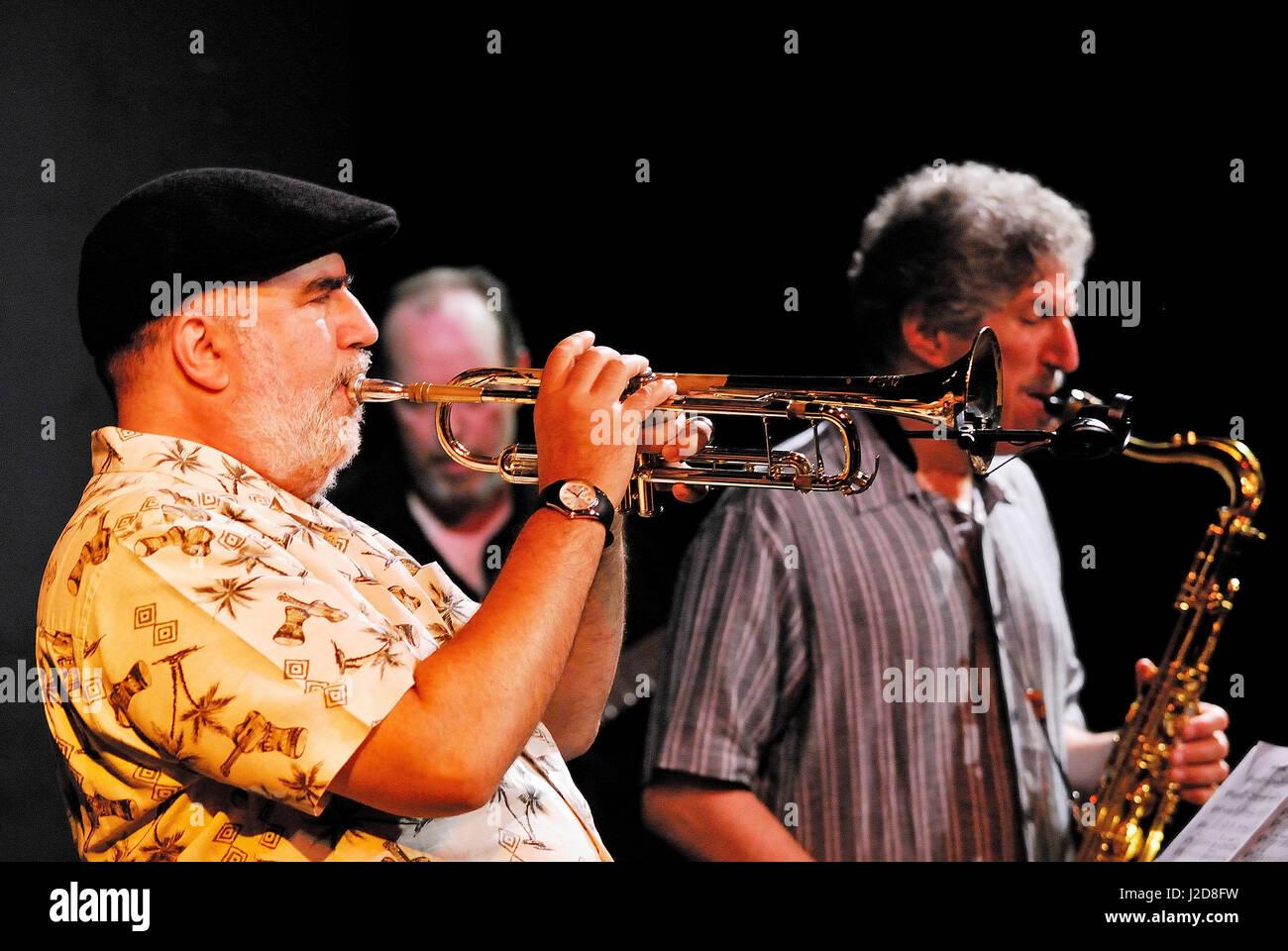 """Tribute to Jaco Pastorius"""" -USA (Randy Brecker, Bob Mintzer, Mitch Forman, Krzysztof Zawadzki,Jeff Andrews, Stock Photo"""