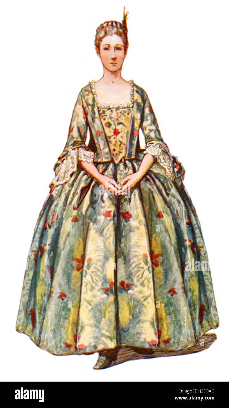 COLONIAL CLOTHES: COLONIAL GOWN OF BROCADE IMPORTED FROM CHINA ...
