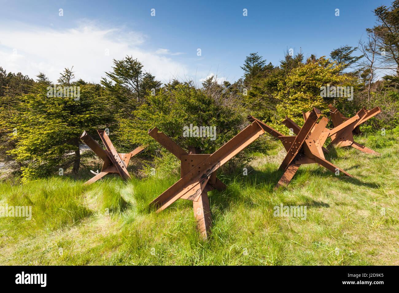 Denmark, Jutland, Hantsholm, WW2-era former German barricades - Stock Image