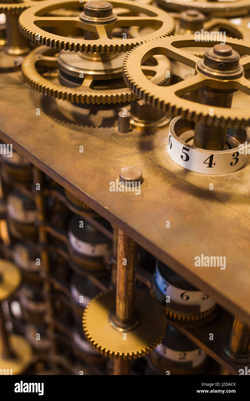 Germany, Nordrhein-Westfalen, Bonn, Arithmeum, museum of technology, science and art, interior, Babbage Difference - Stock Image