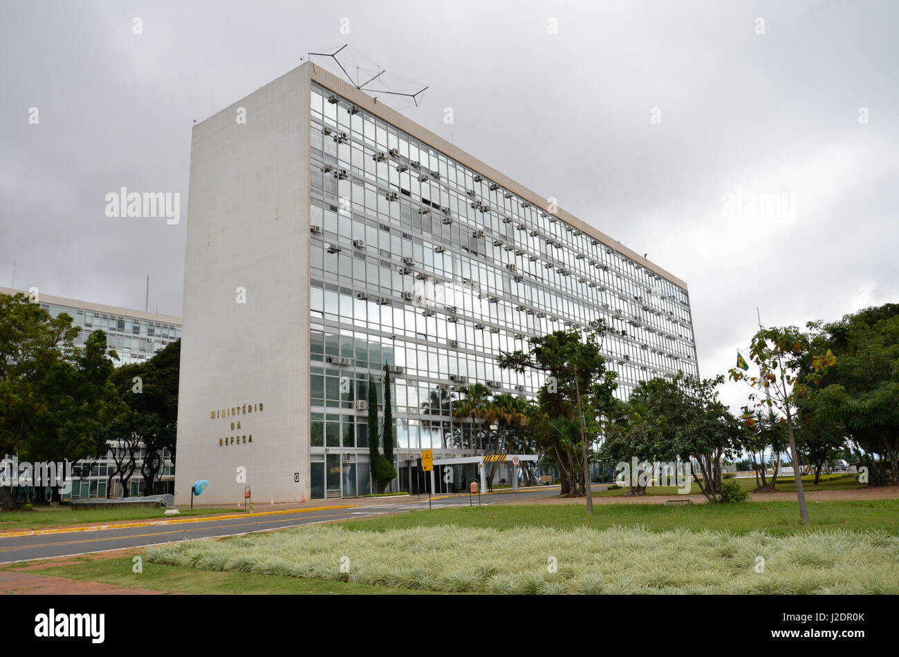 BRASÍLIA, DF - 28.04.2017: GREVE GERAL DIA 28 BRASILIA DF - Ministries © closed rivers and protected by - Stock Image