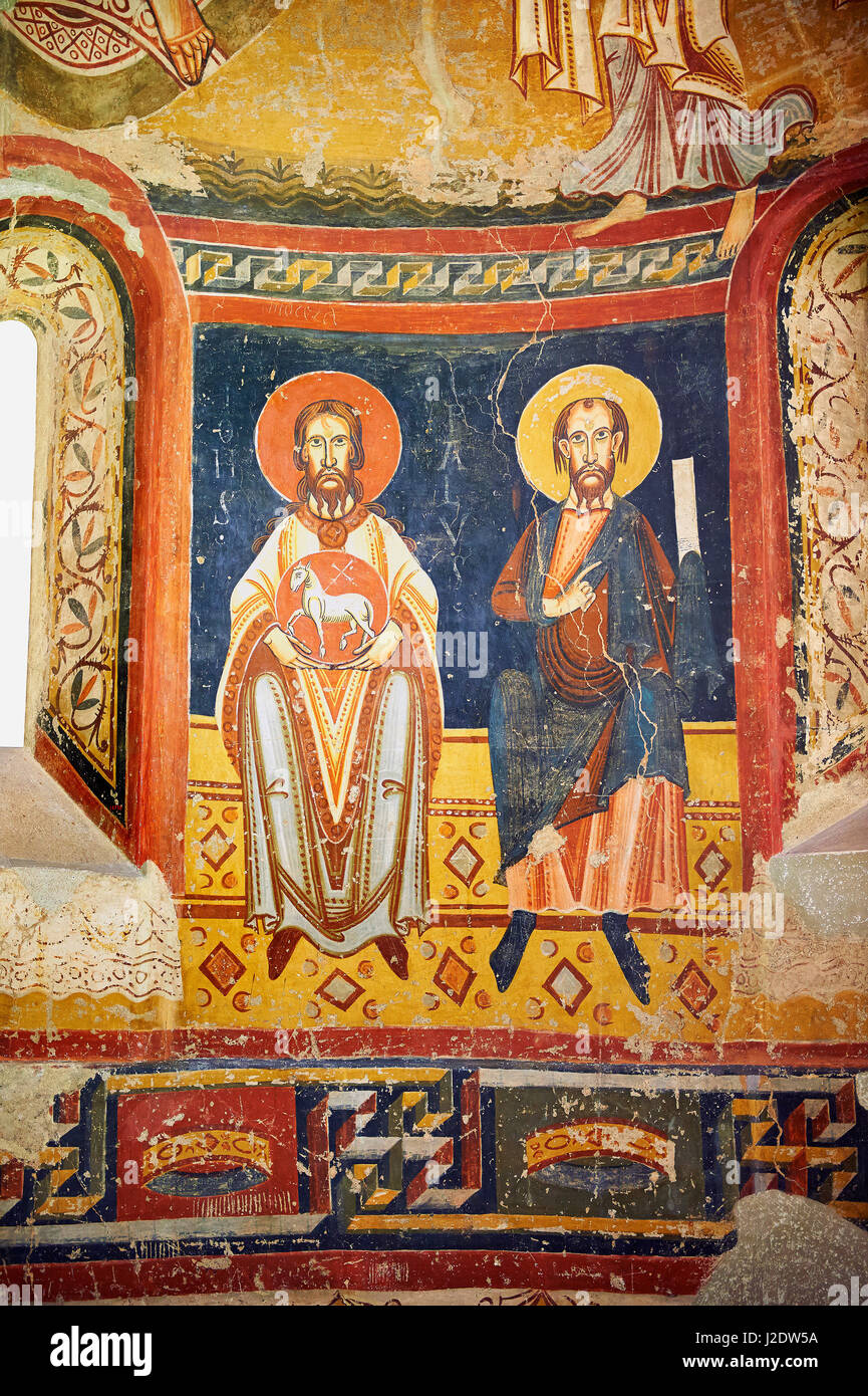 The Romanesque Apse of Bugal. Late XI - XII century, fresco transplanted to canvas from the Churches of the old - Stock Image