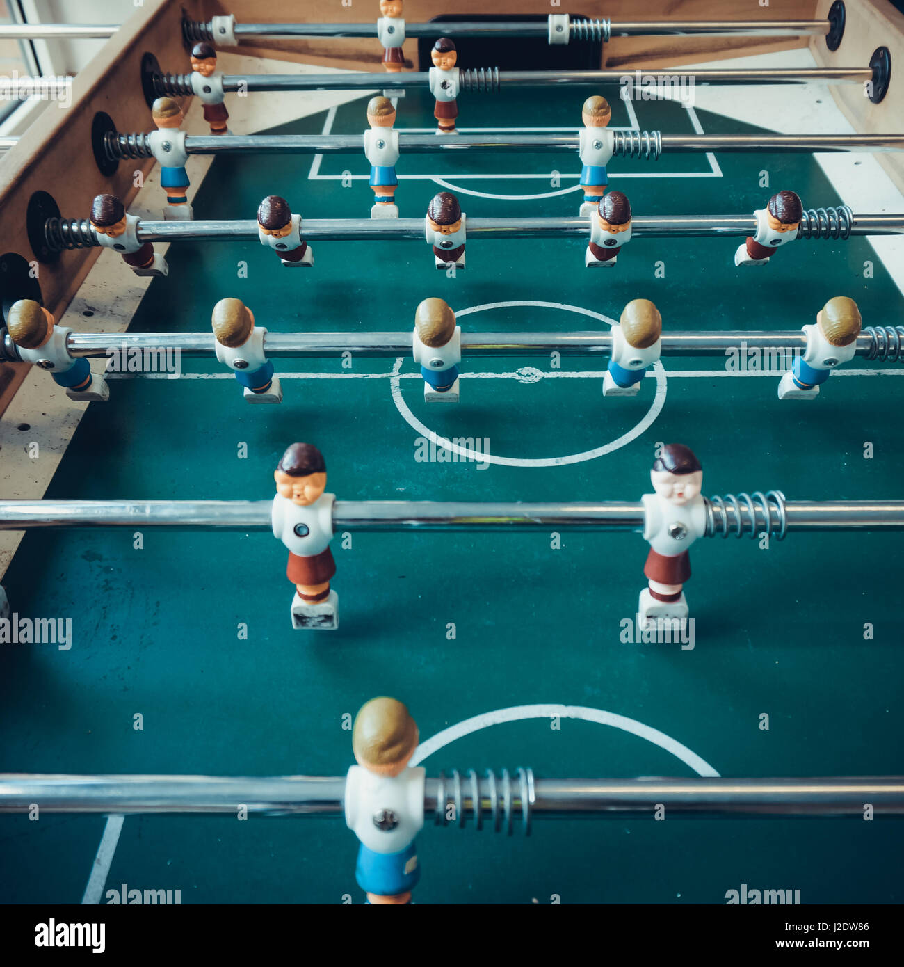 Table football game.  Soccer table game - Stock Image