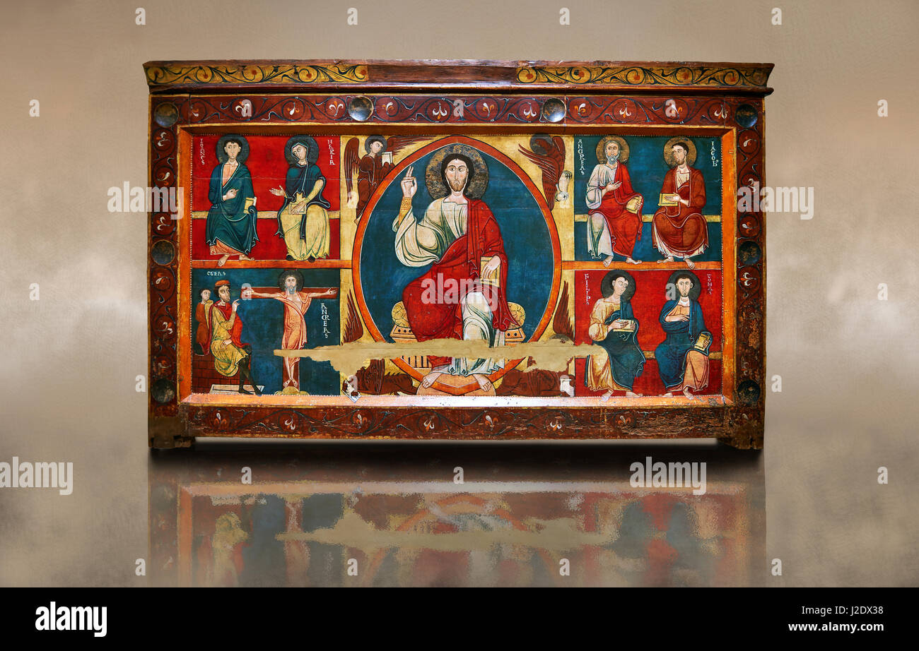 The Romanesque Altar Front of Baltarga  Around 1200, Tempera on wood with metalic ornamention from the church of - Stock Image