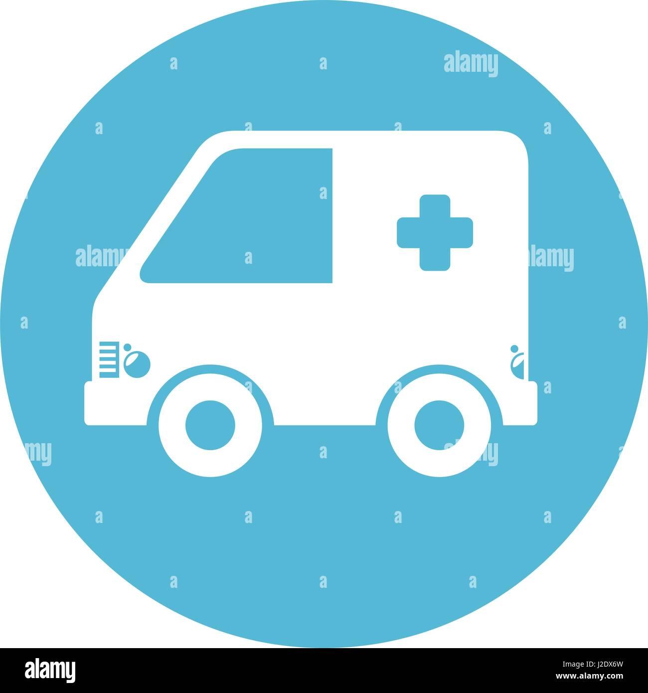 ambulance car isolated icon - Stock Image