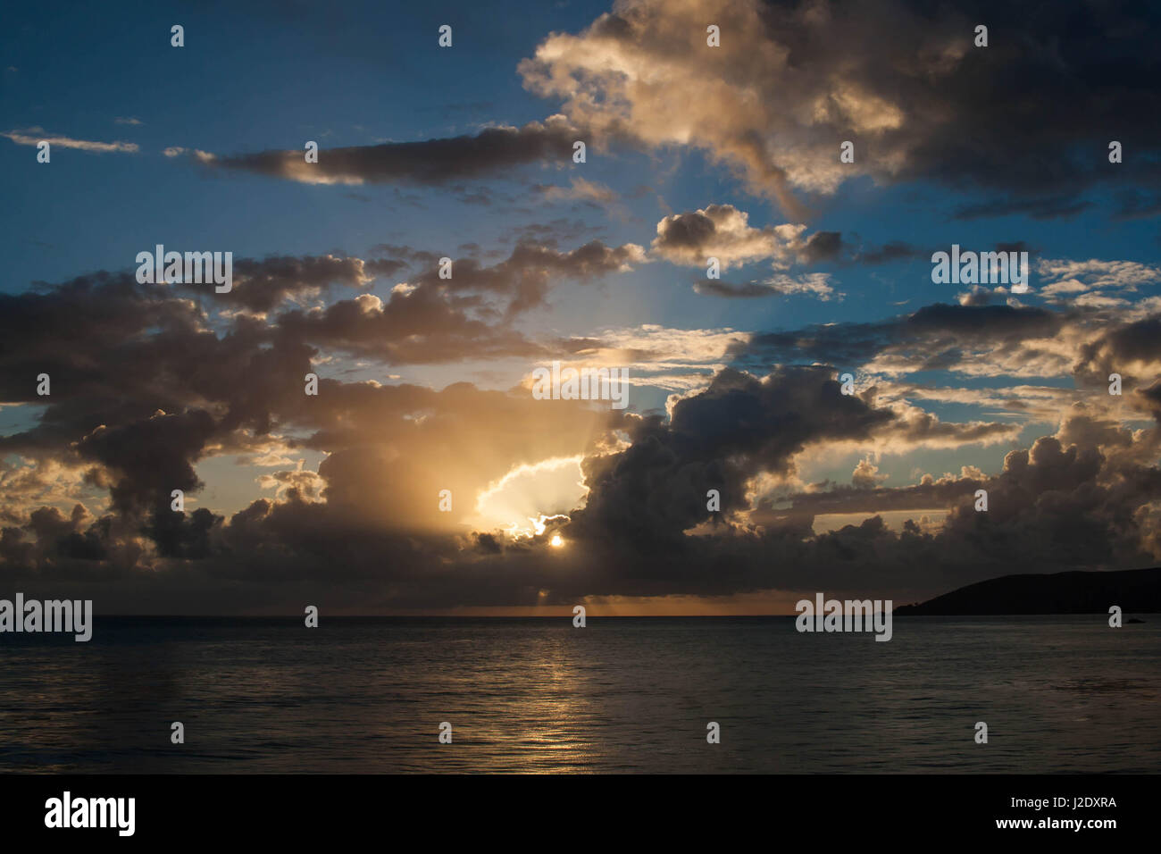 CloudySunset0655   - Stock Image