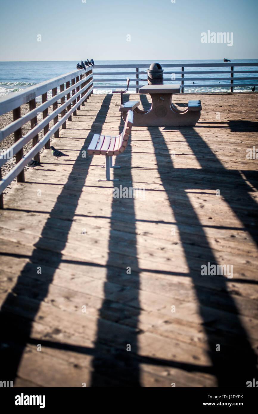 ShadowsOnThePier7128   - Stock Image