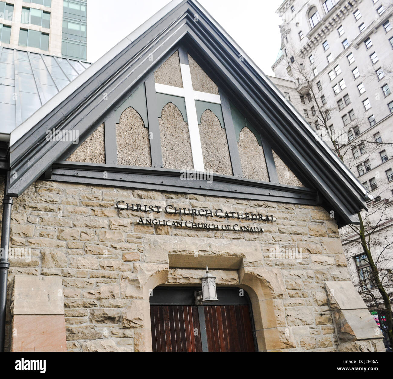 Christ Church Cathedral Anglican Church of Canada located at Downtown Vancouver,BC Canada Stock Photo