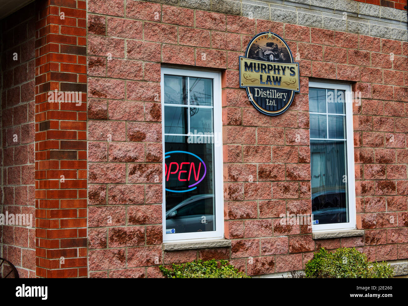 Murphy's Law Distillery Ltd. Elmira Ontario Canada - Stock Image