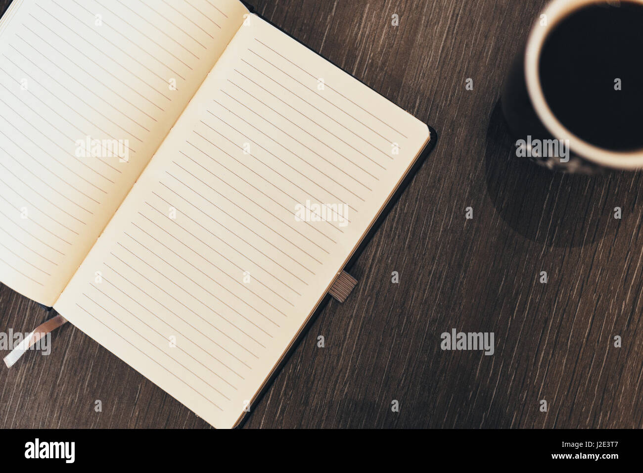 book and coffee - Stock Image