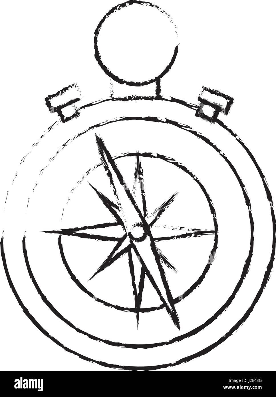 Compass navigation tool - Stock Image