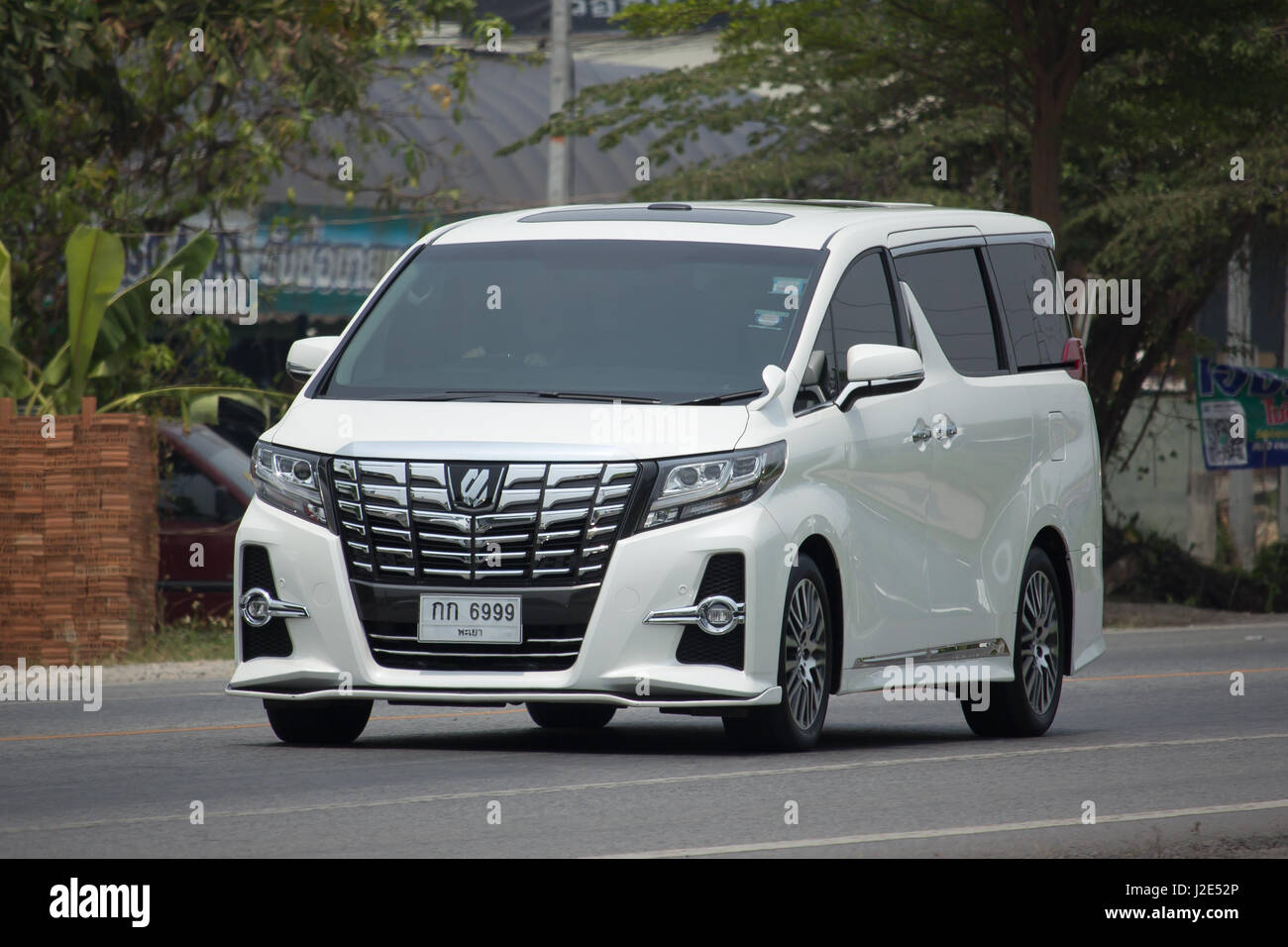 CHIANG MAI, THAILAND -APRIL 23 2017: Private Toyota Vellfire