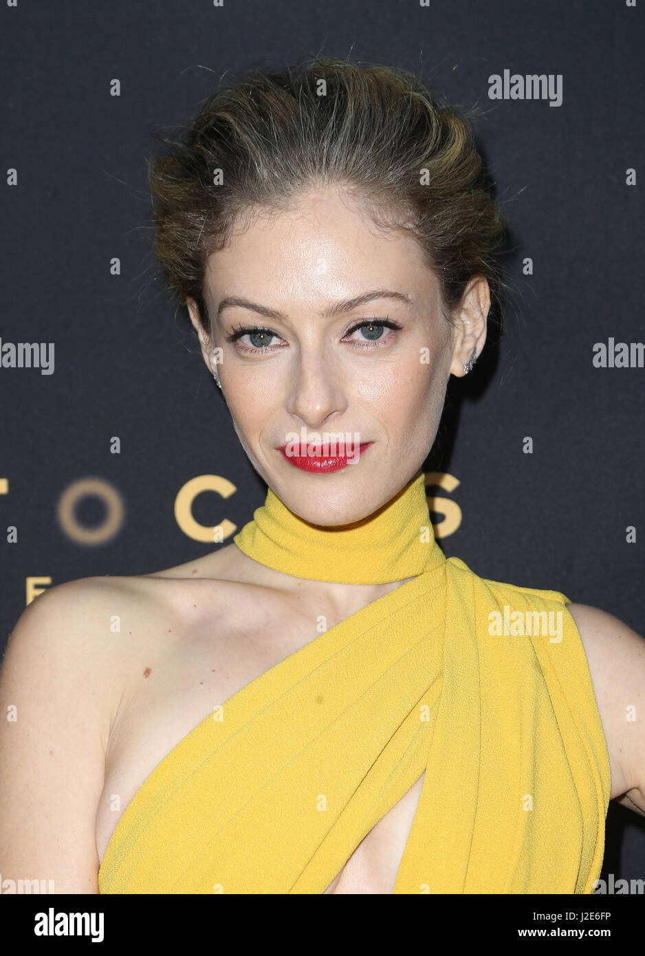 Premiere Of Focus Features' 'The Zookeeper's Wife' Featuring: Efrat Dor Where: Hollywood, California, - Stock Image