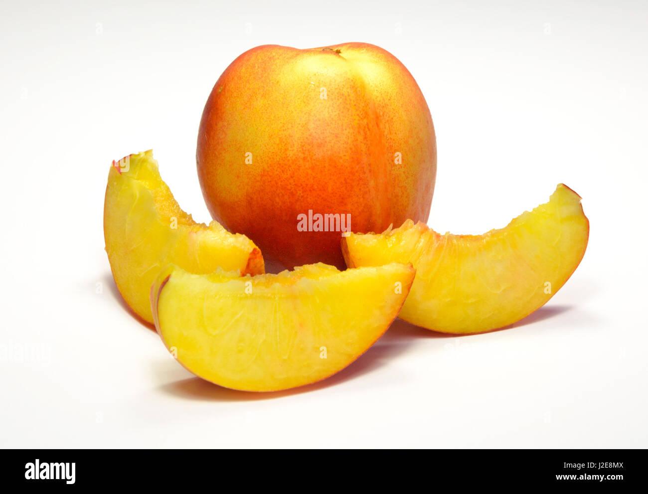 Sliced juicy netarines source of healthy vitamin Stock Photo