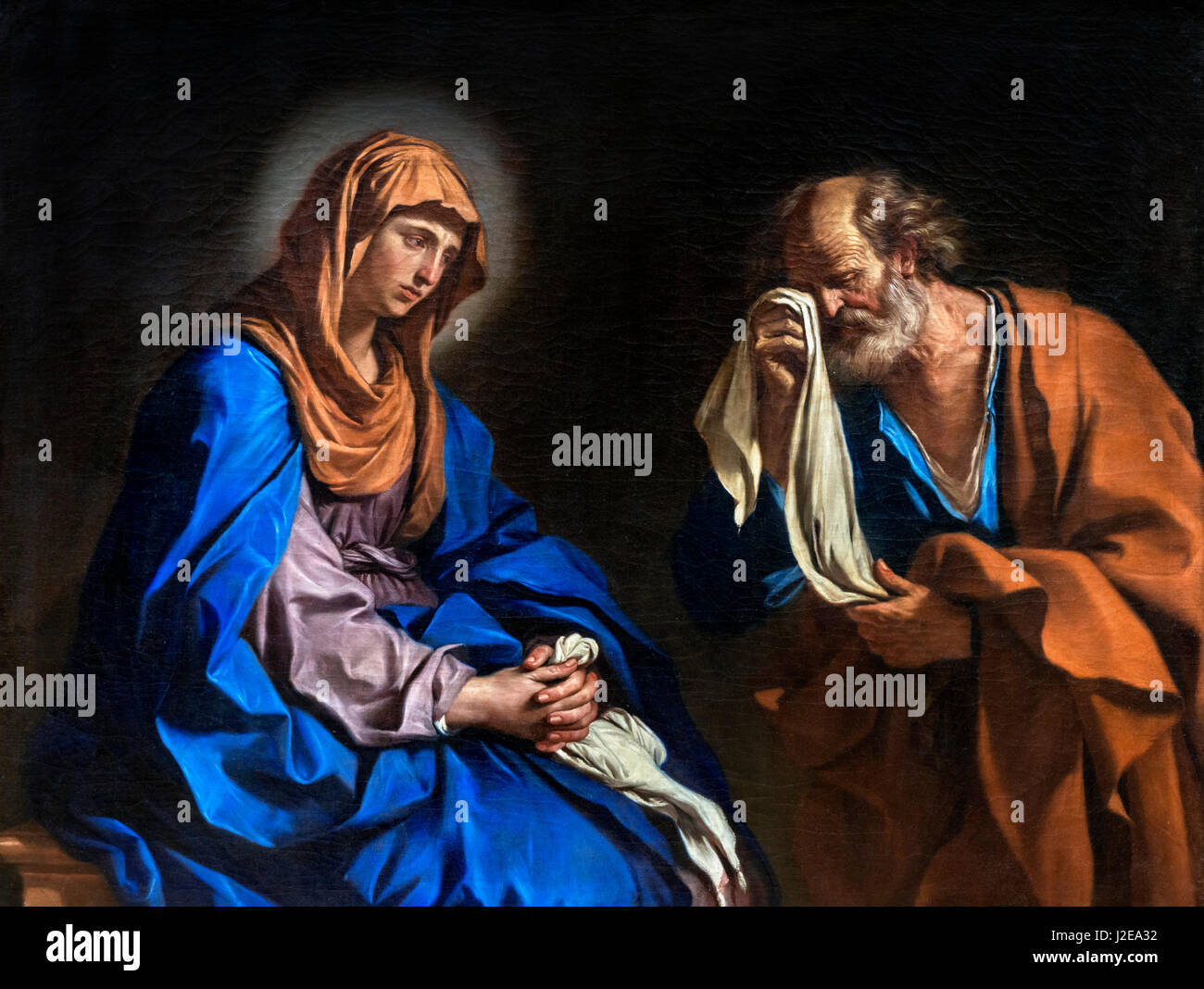 The Tears of St Peter by Guercino (Giovanni Francesco Barbieri: 1591-1666), 1647 - Stock Image