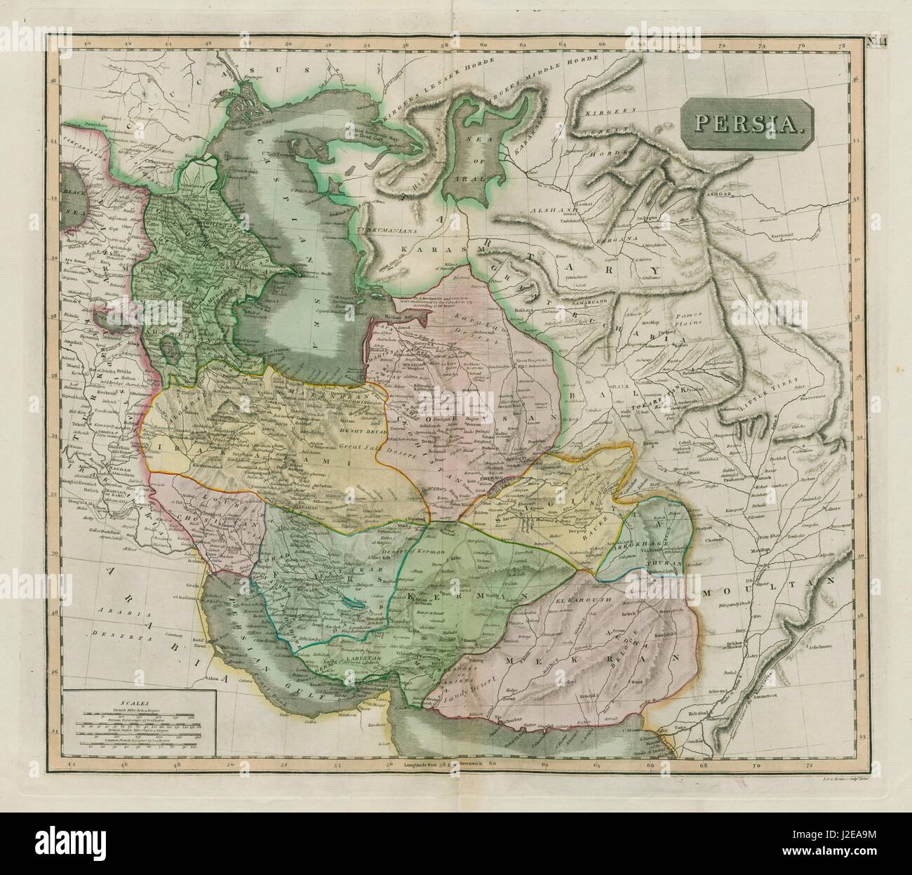 Caspian Sea Map Stock Photos & Caspian Sea Map Stock Images - Alamy